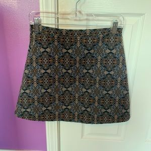 NEVER WORN Urban Outfitters Printed Mini Skirt